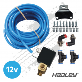 Hadley Airhorn Fitting Kit with 12v Solenoid Valve
