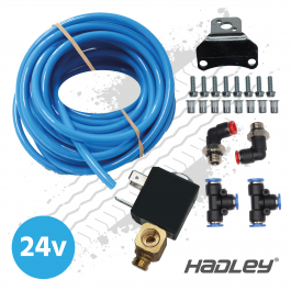 Hadley Airhorn Fitting Kit with 24v Solenoid Valve