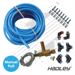 Hadley Airhorn Fitting Kit with Manual Pull Chain Valve