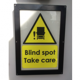 Illuminated Vehicle Safety Sign - Blind Spot Take Care, FORS Design, LED Sign
