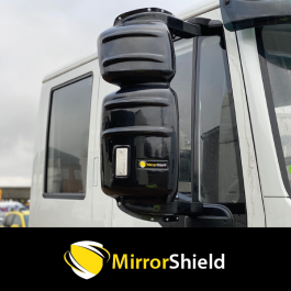 Iveco Eurocargo, Stralis, Trakker 2006 onwards (Short Arm 370mm) MirrorShield - Super Strong Mirror Guards (Pair)