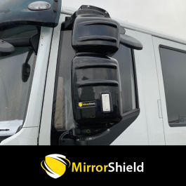 Iveco Eurocargo, Stralis, Trakker 2006 onwards (Long Arm 460mm) MirrorShield - Super Strong Mirror Guards (Pair)