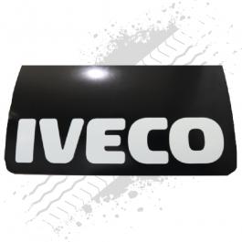 Iveco Black/White Mudflaps (Pair)