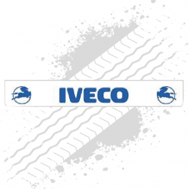 Iveco White/Blue Trailer Mudflap