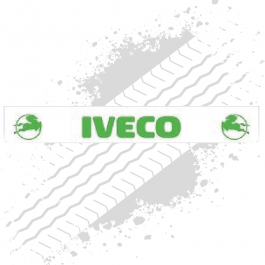 Iveco White/Green Trailer Mudflap
