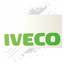 Iveco White/Green Mudflaps (Pair)