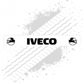 Iveco White/Black Trailer Mudflap