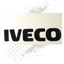 Iveco White/Black Mudflaps (Pair)