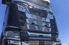 Stainless Steel Mirrored Thunder Mask Cover Kit Suitable For Scania S Series - 11 Piece