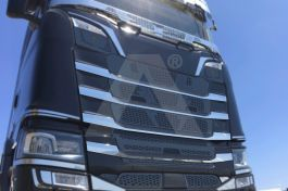 Stainless Steel Mirrored Mask Cover Kit Suitable For Scania S Series - 4 Piece