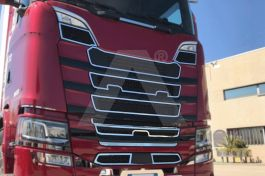 Stainless Steel 9 Piece Mirrored Mask Cover Kit Suitable For Scania S Series