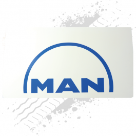 MAN White/Blue Mudflaps (Pair)