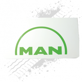 MAN White/Green Mudflaps (Pair)
