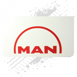 MAN White/Red Mudflaps (Pair)