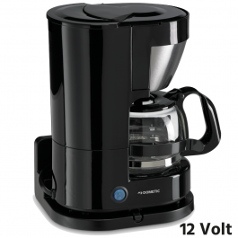 Dometic 12 Volt 5 Cup Coffee Maker 300 Watt Plug And Play - Includes Glass Pot And Warming Plate