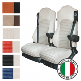 Pair Of The Best Professional Premium Seat Covers Tailored Fit Suitable For Mercedes Antos, Arocs & Actros