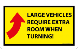Safety Mudflap - Large Vehicle Turning (Single)
