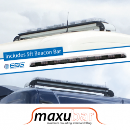 "Maxubar Beacon Bar / Mounting System to suit Scania ""Next Gen"" Cabs - Includes 5ft ECCO Beacon Bar"