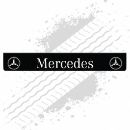 Mercedes Black/White Trailer Mudflap