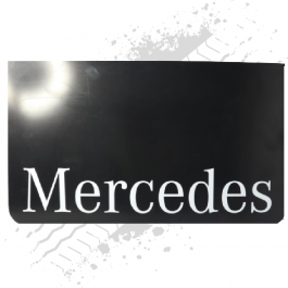 Mercedes Black/White Mudflaps (Pair)