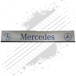 Mercedes White/Blue Trailer Mudflap