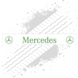 Mercedes White/Green Trailer Mudflap