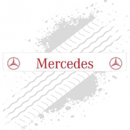 Mercedes White/Red Trailer Mudflap