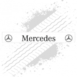Mercedes White/Black Trailer Mudflap