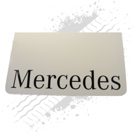 Mercedes White/Black Mudflaps (Pair)