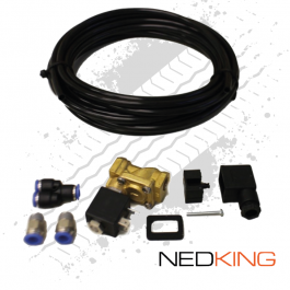 NEDKING Air Horn 24 Volt Supply Kit Including Solenoid Valve, Piping And Connectors