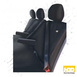 Heavy Duty Renault Trafic Crew Van Seat Covers (2014 +) - 8 Piece Set