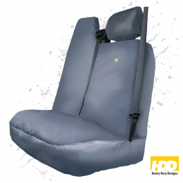 Heavy Duty Renault Master Double Passenger Seat Cover (2010 +) - 2 Piece Set