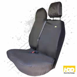 Heavy Duty Renault Master Double Passenger Seat Cover (2016 +) - 2 Piece Set