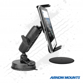 "Ultra Windscreen Suction Slim Grip Phone and Tablet Mount to suit devices up to 8"" wide - Arkon Mounts."