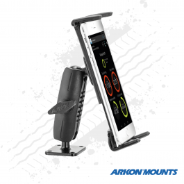 "Solid Drill Metal Base, Slim Grip Phone and Tablet Mount to suit devices up to 8"" wide - Arkon Mounts."