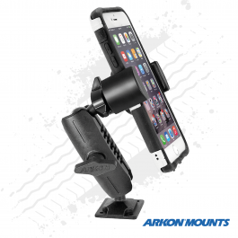 "Solid Drill Metal Base Phone Mount to suit all phones up to 4"" wide - Arkon Mounts."