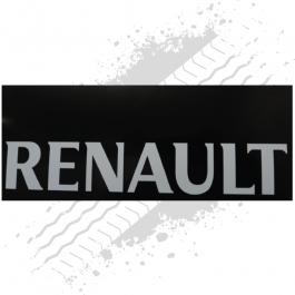 Renault Black/White Mudflaps (Pair)