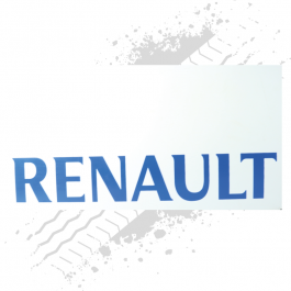 Renault White/Blue Mudflaps (Pair)