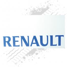 Renault White/Blue Mudflaps (Pair)