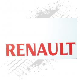 Renault White/Red Mudflaps (Pair)