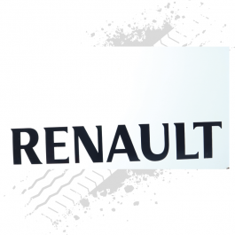 Renault White/Black Mudflaps (Pair)