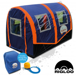 Rigloo Rescue Shelter, Inflates in under 2 minutes, be safe away from your vehicle, warm and dry!