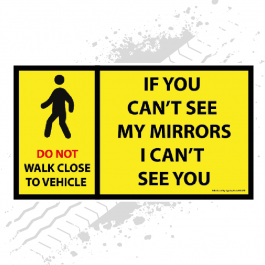 Safety Mudflap - Can't See Mirrors / Pedestrian (Single)