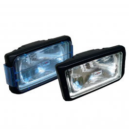 SIM Spotlight Blue Or Clear Lens With Sidelight - Single Unit 12/24 Volt - E Approved
