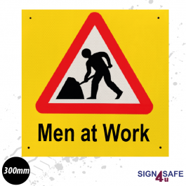 Men at Work Road Safety Sign - 300mm