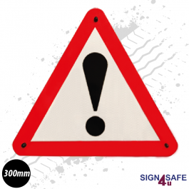 Warning Triangle Safety Sign - 300mm
