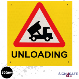 Unloading Warning Sign - 300mm