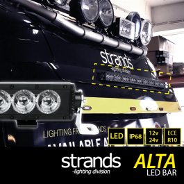 Alta LED Bar Kit to suit Volvo FH4 Sun Visor, Angel Eye Side Lights and Main Beam, 12/24v, ECE R10