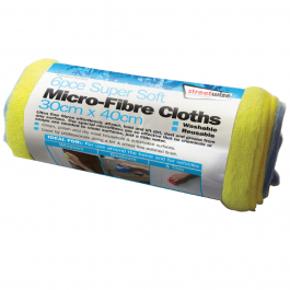 Washable Microfibre Polishing Cloth/Towel 30x40cm Packet Of 6
