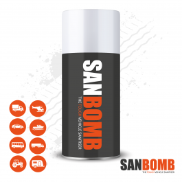 Vehicle Sanitiser Bomb, Anti-Bac, Kills all germs, eliminates viruses, 99.99% effective. 100ml Can